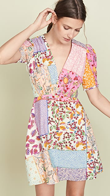 Saloni Мини-платье Lea