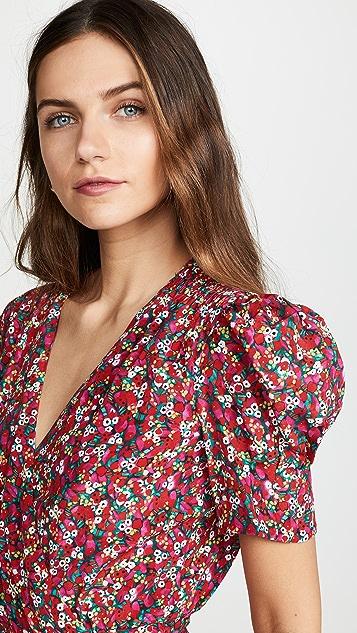 Saloni Мини-платье с запахом Lea