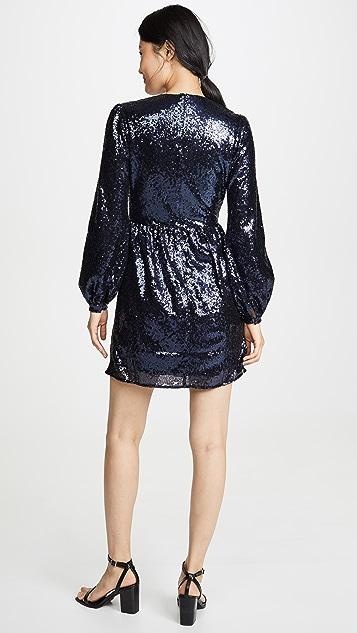 Saloni Мини-платье Camille с блестками