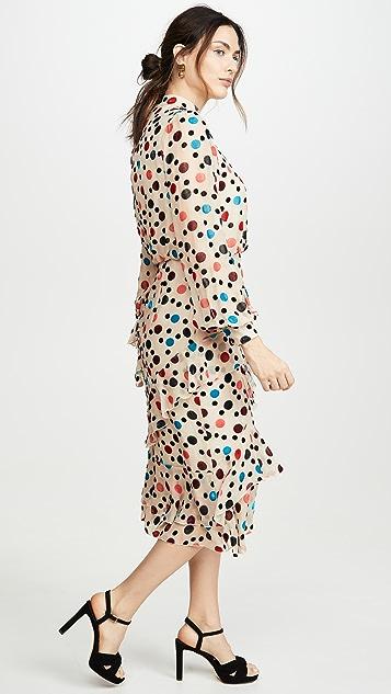 Saloni Isa Ruffle Dress