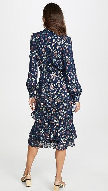 Saloni Миди-платье Isa с оборками