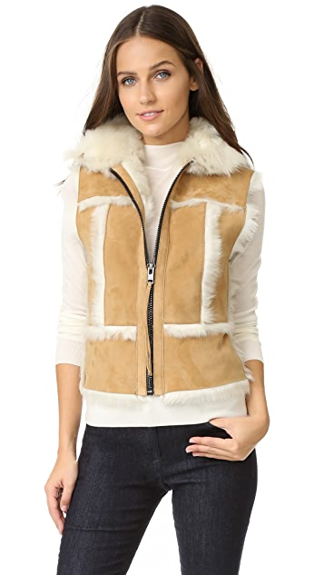 SAM. Stevie Shearling Vest