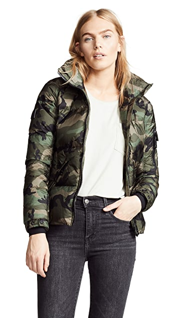 Camo Freestyle Short Down Jacket | SHOPBOP