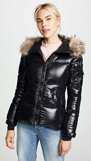 SAM. Blake Short Down Jacket with Fur