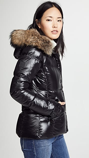 SAM. Blake Short Down Jacket with Fur
