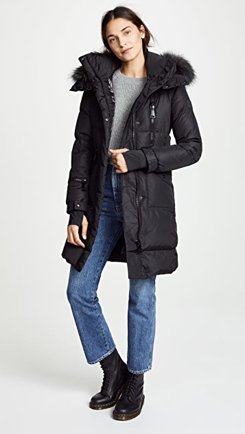 02a32c316 Fur Highway Long Down Jacket