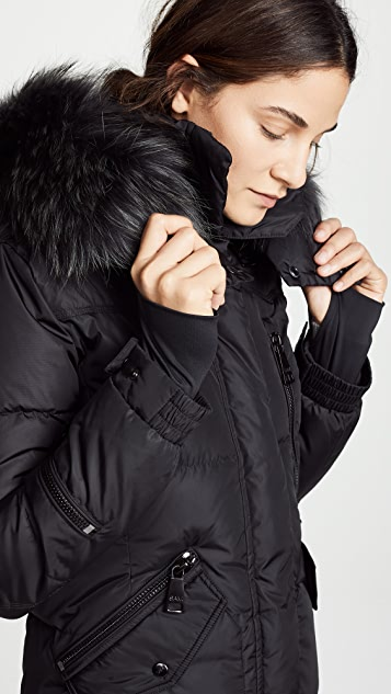 SAM. Fur Highway Long Down Jacket