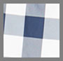 темно-синий/белая клетка гингем