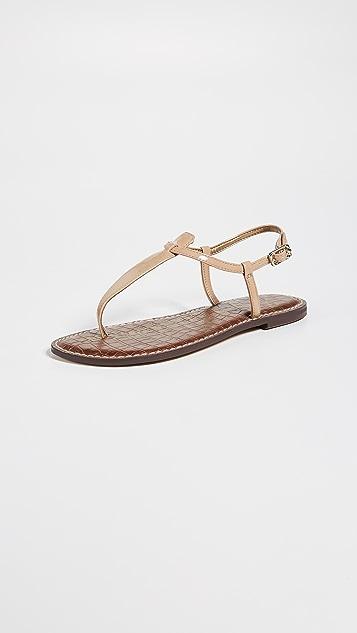 Sam Edelman Gigi Patent T Strap Sandals ...