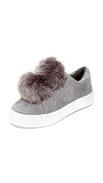 Sam Edelman slip on sneakers pom pom