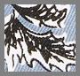 Dusty Blue Leaf Print