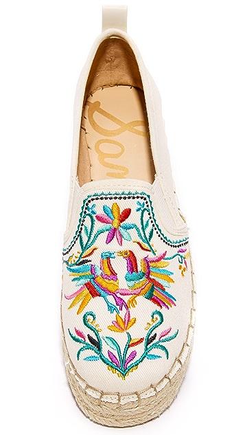 Sam Edelman Carrin II Embroidered Espadrilles
