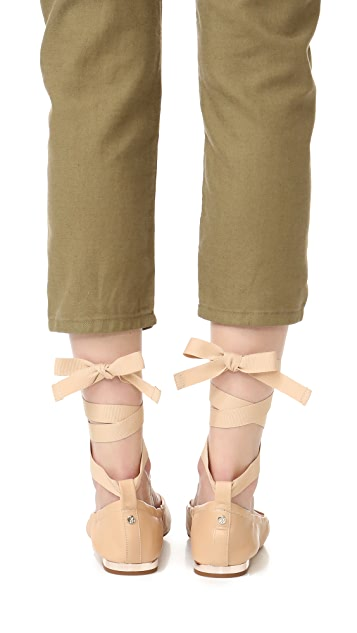Sam Edelman Fallon Lace Up Ballet Flats