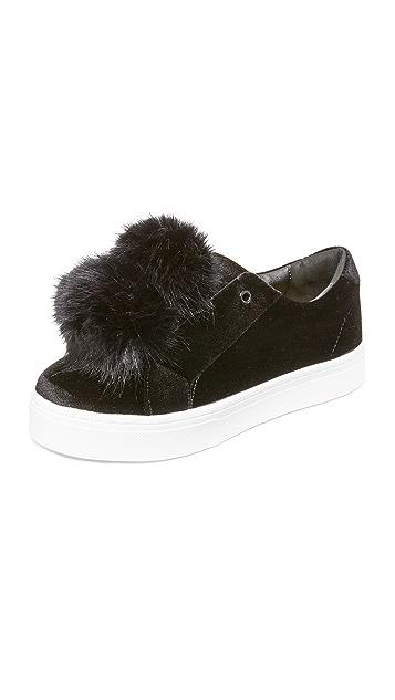 Sam Edelman Leya Velvet Pom Pom Sneakers