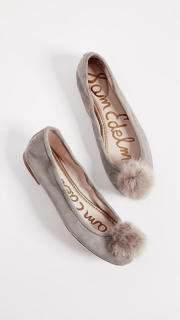 Sam Edelman Farina Pom Ballet Flats