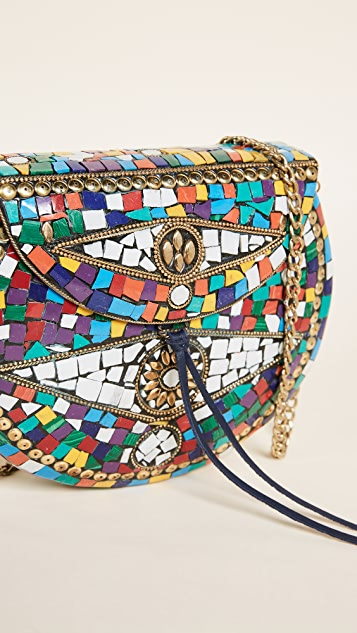 Sam Edelman Tatiana Multi Hard Case Cross Body Bag
