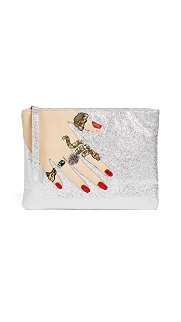 Sam Edelman Jeana Hand Metallic Clutch