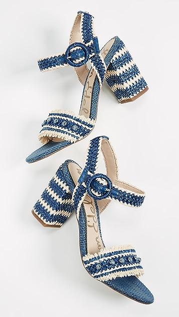 Sam Edelman Olisa Sandals - Denim Blue