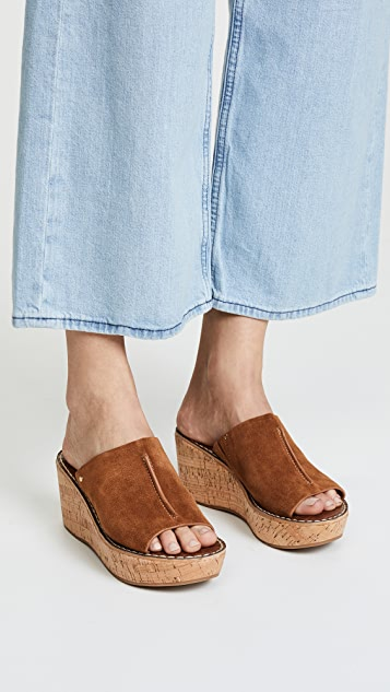 Sam Edelman Ranger Cork Wedge Mules