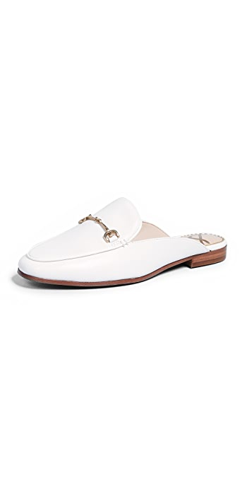 Sam Edelman Linnie Flat Mules - Bright White