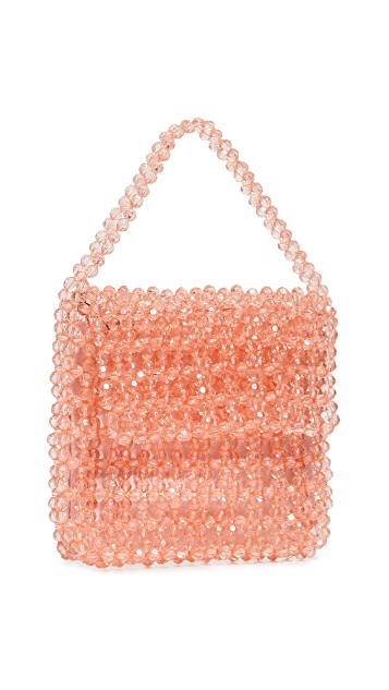 Sam Edelman Violet Acrylic Beaded Bag