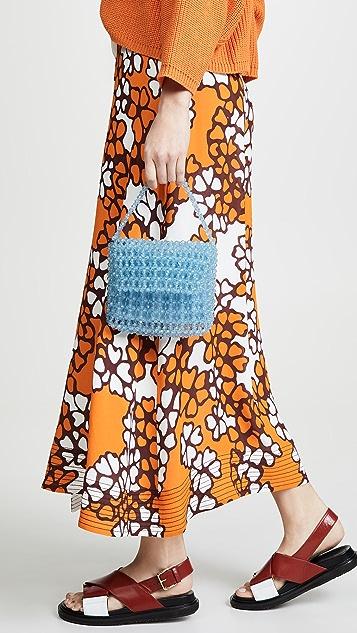 Sam Edelman Фиолетовая акриловая сумка с бусинами