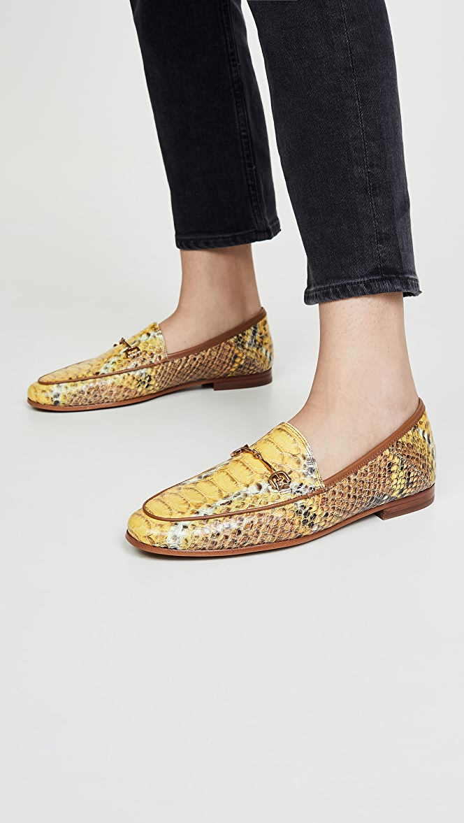 Sam Edelman Womens Loriane Loafer Flats Gold Glitter