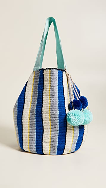 Sophie Anderson Jonas Crochet Shopper - Blue Multi