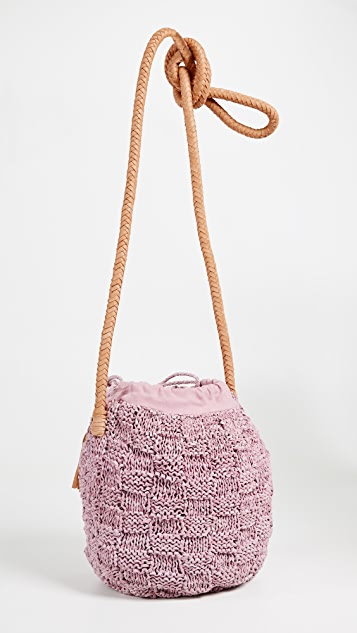 Sophie Anderson Portia Knit Leather Bucket