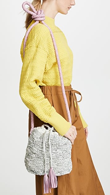 Sophie Anderson Portia Knit Leather Bucket Bag