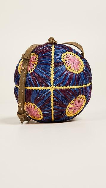 Sophie Anderson Saiu Raffia Cross Body Bag