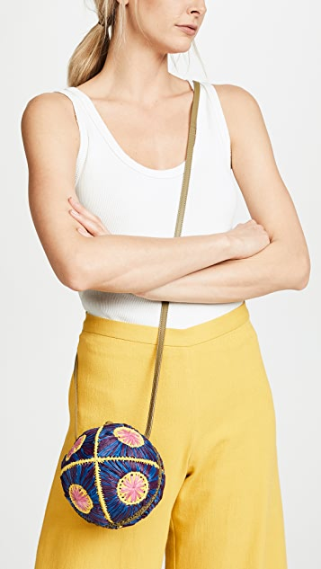 Sophie Anderson Saiu Raffia Cross Body Bag
