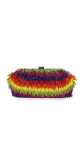 Santi Rainbow Bead Clutch