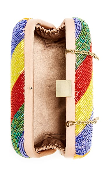 Santi Diagonal Bead Box Clutch