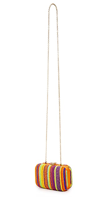 Santi Stripe Bead Box Clutch