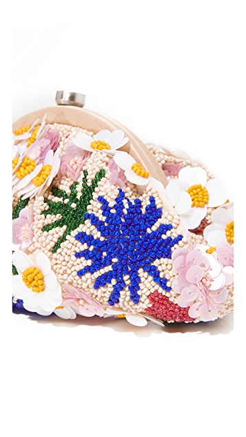Santi Beaded Flower Clutch