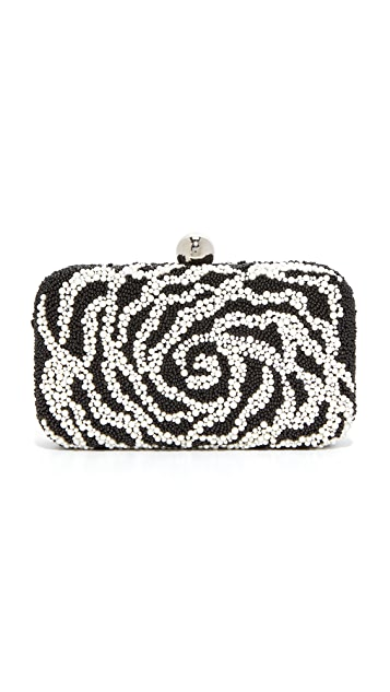 Santi Camelia Beaded Box Clutch