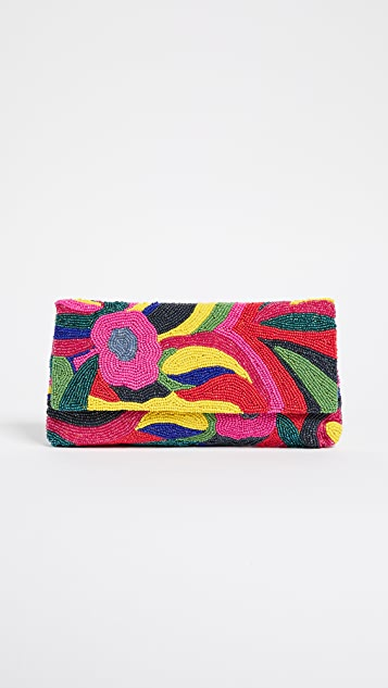 Santi Beaded Floral Clutch