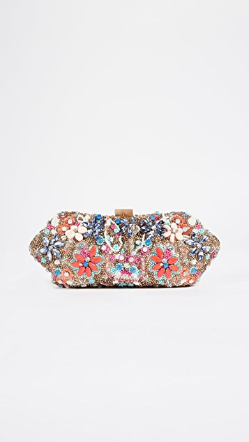 Santi Beaded Floral Clutch - Multi