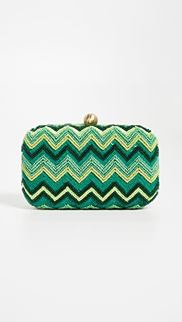 Santi Sequin Chevron Clutch