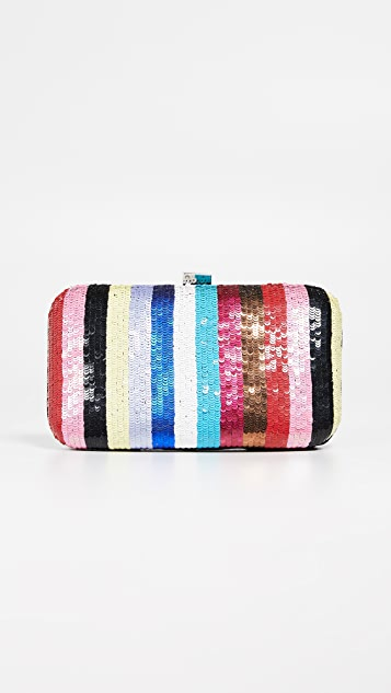 Santi Rainbow Stripe Clutch