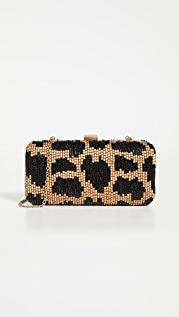 Santi Leopard Beaded Clutch