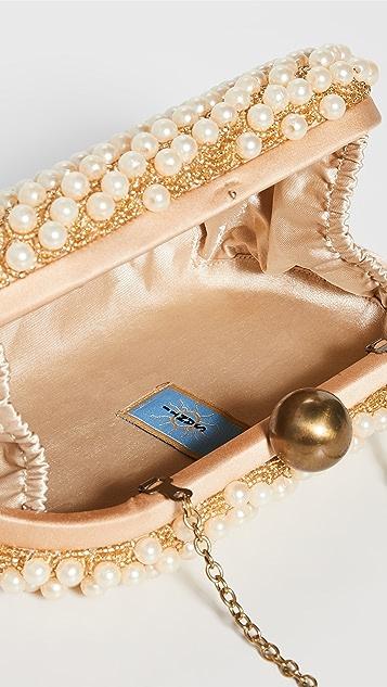 Santi 棕褐色珍珠手拿包