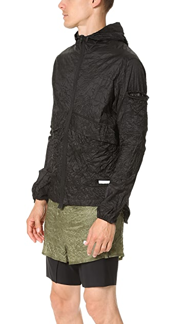 Satisfy Packable Zip Front Windbreaker