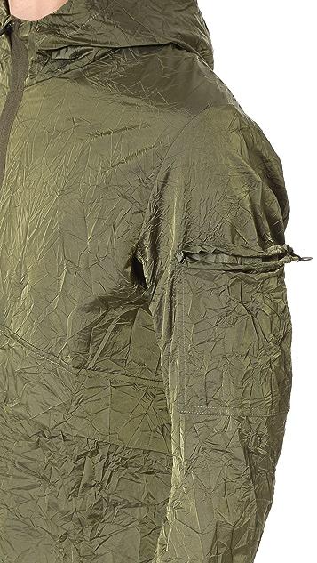 Satisfy Packable Zip Front Windbreaker