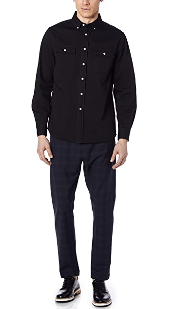Saturdays NYC Angus Broken Twill Shirt