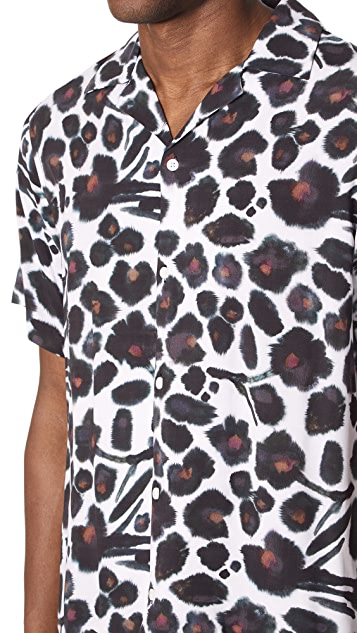 Saturdays NYC Canty Water Floral Shirt