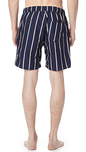 Saturdays NYC Timothy Striped Swim Shorts