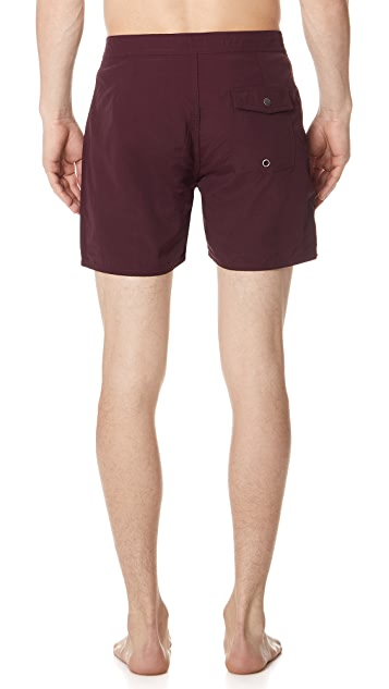 Saturdays NYC Colin Solid Swim Trunks