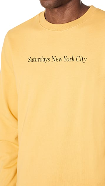 Saturdays NYC Bowery Crew Sweatshirt